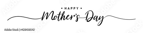 Fototapeta premium Mother day. Happy Mother's Day. 9May. Mother day poster. Vector illustration for women's day, shop, discount, sale, flyer, decoration. Lettering style.