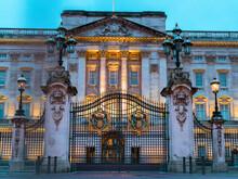 Entrance Gate Of The Buckingham Palace In London, United Kingdom