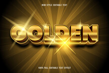 Golden Editable Text Effect Style Luxury