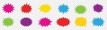Starburst Speech Bubbles Collection, Blank Speech Bubbles, Vector Illustration