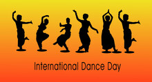 International Dance Day Greeting Banner. Flat Vector Illustration