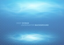 Blue Deep Water Sea Abstract Natural Background