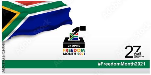 Fotografia, Obraz South Africa freedom day logo