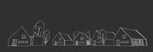 Suburban Residential Area, Nice Neighborhood House, Real Estate Concept, 3D Illustration