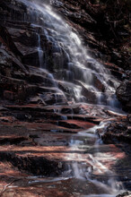 Gorgeous Waterfalls With Multiple Cascades In Crawford Notch New Hampshire