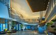 3d render of luxury hotel reception lobby entrance hall