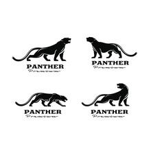 Premium Set Collection Black Panther Vector Logo Illustration Design