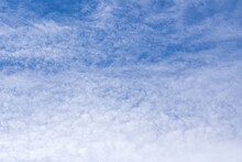 Beautiful Blue Sky With Thin White Clouds