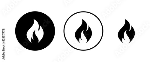 Fotografia, Obraz Fire icons set . Fire flame icon template.
