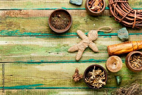 Fotografie, Obraz Magic voodoo doll for ritual