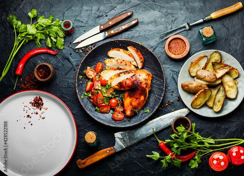 Fotografía Grilled chicken,chicken breast