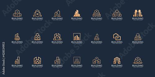Obraz na płótnie Set of modern real estate building logo design vector collection concept