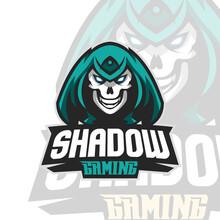 Skull Phantom Logo Mascot Vector Illustration