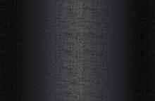 Luxury Black Metal Gradient Background With Distressed Wicker Vine Texture.