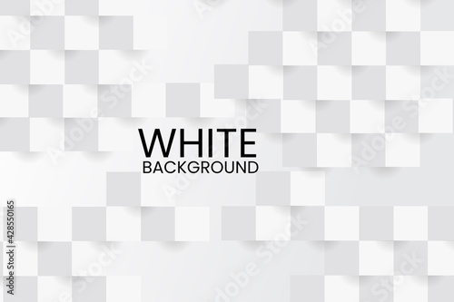 Fototapeta Vector illustration of Abstract modern square background. White and grey geometric texture. obraz