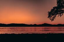 Sunset At Loch Lomond In Scotland