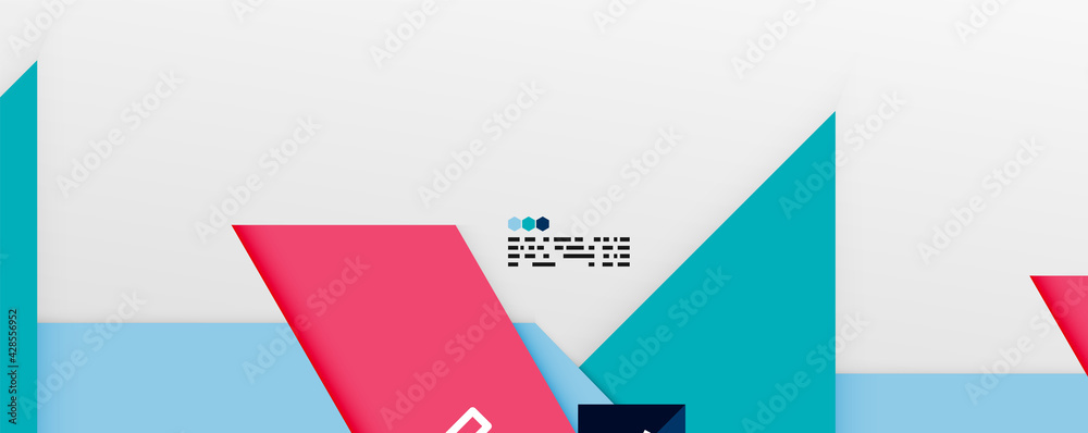 Fotografia Shiny color triangles and geometric shapes vector abstract background