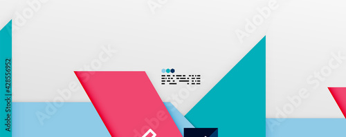 Obraz na płótnie Shiny color triangles and geometric shapes vector abstract background