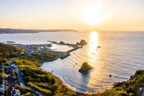 Fototapeta 鴨川松島の日の出(千葉県鴨川市) obraz