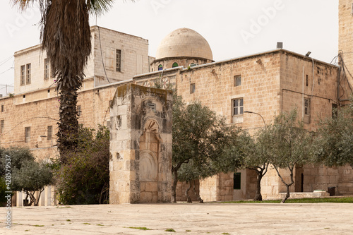 Carta da parati The arcitecture  in the south part the Temple Mount in the Old Town of Jerusalem