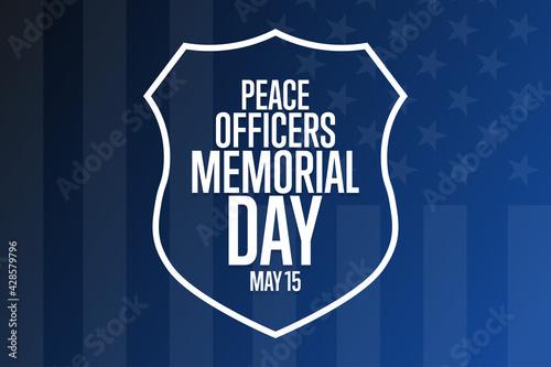 Vászonkép Peace Officers Memorial Day