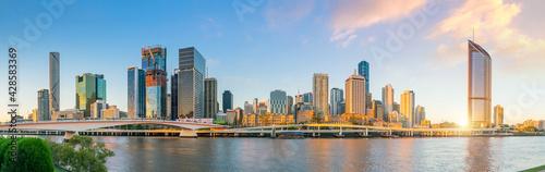 Brisbane city skyline  at twilight in Australia - fototapety na wymiar