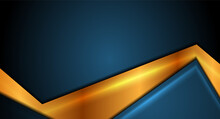 Blue And Golden Smooth Abstract Corporate Vector Background