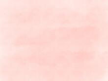 ピンクのにじみのある水彩画の背景素材、明るい春の色