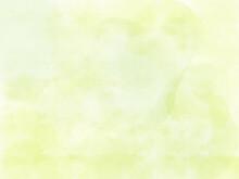 春色の明るい水彩画の壁紙、ぼやけた薄緑色の背景素材