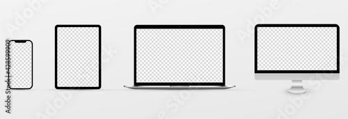 Obraz Realistic mockup transparent - fototapety do salonu