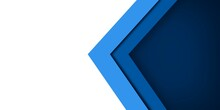 Abstract Blue Design Advanced  Banner Background With Copy Space