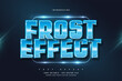 Editable Text Style with Blue Frost Effect