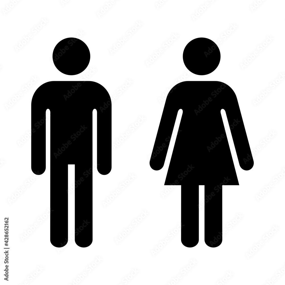Fototapeta ikona mężczyzny i kobiety
