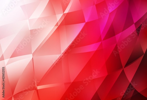 Obraz Light Red vector gradient triangles texture. - fototapety do salonu