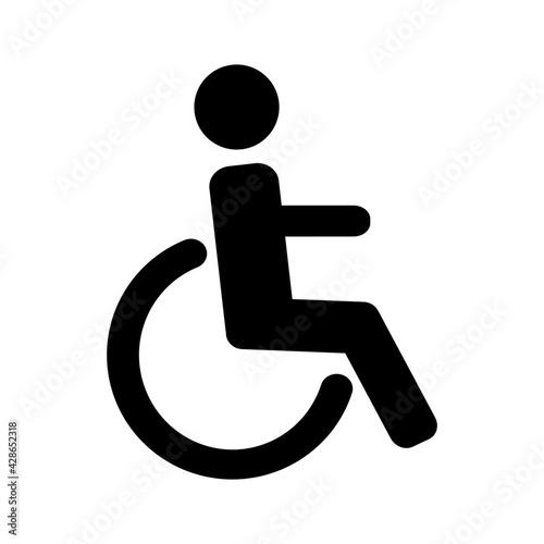 Fototapeta wózek inwalidzki ikona obraz