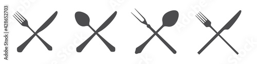 Photo Crossed knives, spoons and forks