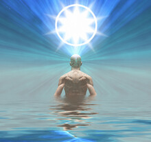 Man Radiates Light From Mind