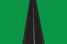 Abstract Road. Road In Flat Style. N Nature Background. Beautiful Road, Great Design. Vector Illustration. EPS 10. Stock Image.