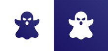 Ghost, Phantom Or Apparition Haunting Halloween Illustration Icon For Web.