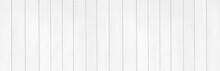 Panorama Of New White Vintage Wooden Wall Texture And Background Seamless Or A White Wooden Fence