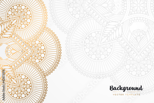 Fotografía Vector islamic gold background with mandala