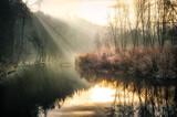 Fototapeta Na ścianę - mroźny poranek nad rzeką
