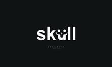 Skull Letter Vector Logo Design