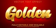 Editable Text Effect, Golden Luxury Text Style