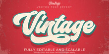 Editable Text Effect, Vintage Retro Text Style