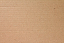 Cardboard Sheet Texture Background, Detail Of Recycle Brown Paper Box Pattern.