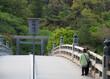 三重県 伊勢神宮 朝日を見る老夫婦