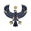 horus falcon bird egyptian logo vector icon illustration
