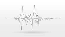 Noise Sound Wave Signal Vector Background