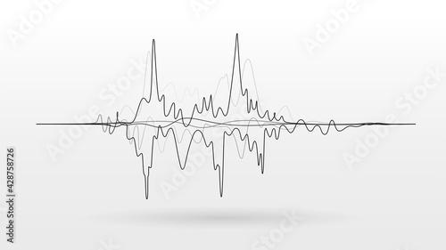 Noise sound wave signal vector background - fototapety na wymiar